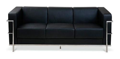 Sillón Sofá Living Moderno Le Corbusier Oficina 3 Cuerpos