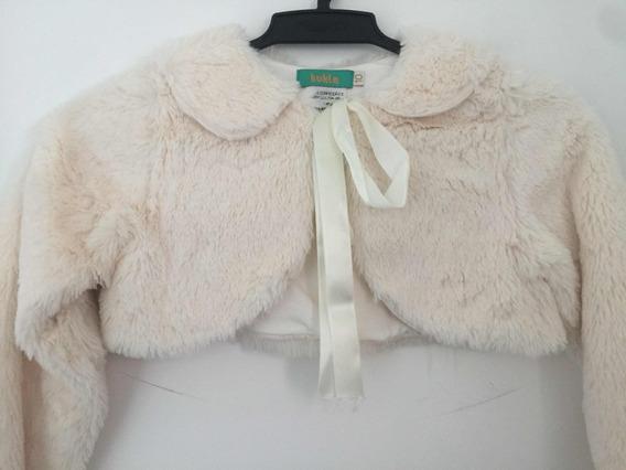 Kukla - Casaco Cropped De Pelo Sintético. Tamanho 10