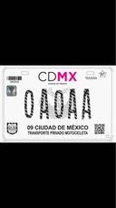 Emplacado Motos Cdmx