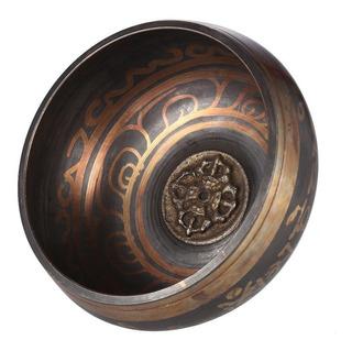 Cuenco Tibetano Cobre 9.5 Cm Baqueta Madera Campana Budismo