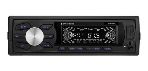 Estéreo para auto Stromberg SC-6003 con USB, bluetooth y lector de tarjeta SD