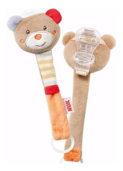 Prendedor De Chupeta Com Chocalho Nuk Urso Teddy