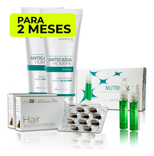 Pack Anticaída Hombre (2 Meses) Hair Recovery