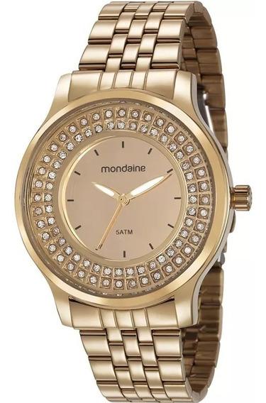 Relógio Mondaine Feminino Dourado 99266lpmvde1