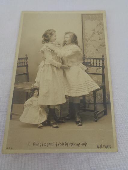 Cartão Postal Temático Brinquedo Antigo Boneca 02#