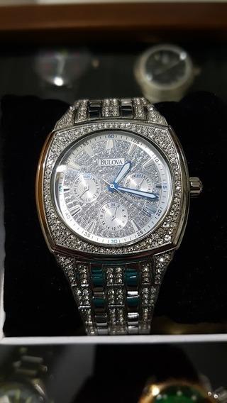 Relógio Bulova De Cristal Swarovski - Masculino