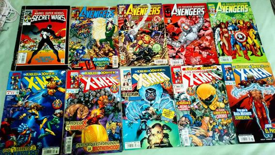 10 Marvel Comics De Avengers Y X-men Spiderman Historietas