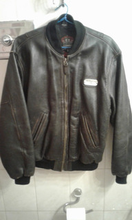 Motor Oil Campera Bomber Aviadora Vintage Optima