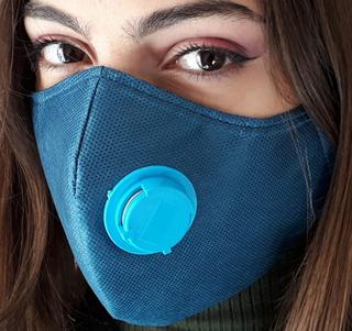 Kit 10 Máscaras De Tnt Duplo Lavável Com Respirador