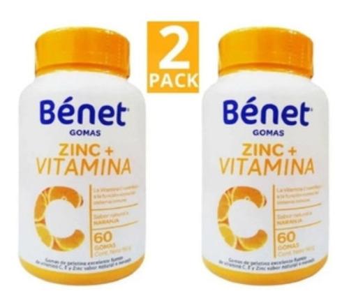 Vitamina C + Zinc 60 Gomas Benet - Unidad a $21450