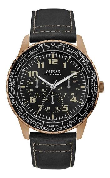Relógio Guess Masculino Pulseira Em Couro 92729gpgsrc2