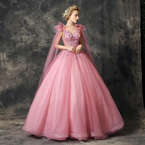Vestido De Xv Años Rosa Nuevo Alta Calidad Nueva Temporada Ale-190714001