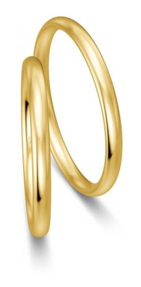 Par De Alianzas Oro 18 Kts. - 3 Grs. - 2 Mm Ancho - Cod200