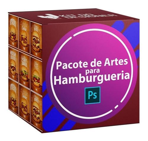 Pack 54 Artes Hamburgueria Editável Photoshop Psd