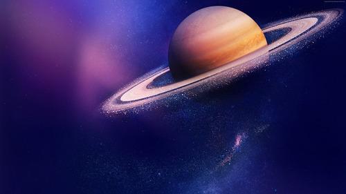 Imagem 1 de 5 de Painel Tecido Sublimado 3d Planeta Saturno 2,50m X 1,50m