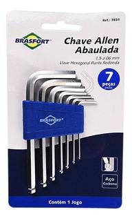 Jogo De Chave Allen Abaulada De 1,5 A 6mm Com 7 Peças-brasfo