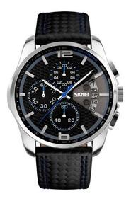 Relógio Masculino Skmei Analógico 9106 C/ Caixa