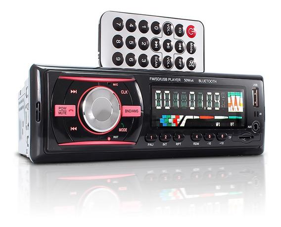 Auto Rádio Som Automotivo Bluetooth Mp3 Rádio Fm Usb Aux Sd