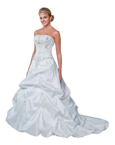 Vestido De Noiva - Branco - 40 - Fotos Reais - Vn00025