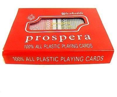 Jogo De Baralho Washable Prospera 100% Plastico 108 Cartas