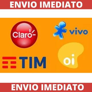 Recarga Celular Crédito Online Claro Tim Vivo Oi R$ 15,00