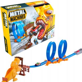 Pista De Autos T-rex Attack Metal Machines Original Zuru