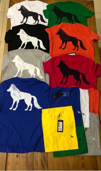 Camiseta Basica Lobo Nas Costas - Cores