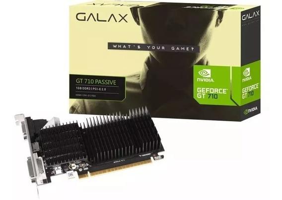 Placa De Vídeo Nvidia Galax Geforce Gt 710 1gb Ddr3 64 Bits