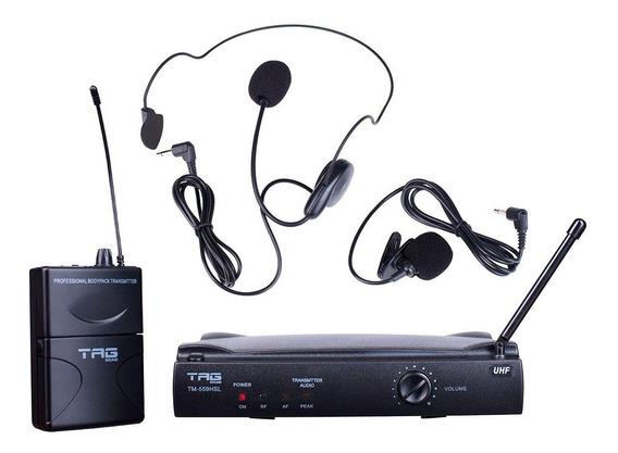 Microfone Lapela Tm559hsl Tagima Tag Sound Sistema Uhf, Acom