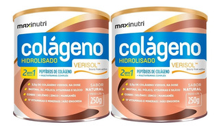 Colágeno Hidrolisado 2em1 Verisol - 2un De 250g - Maxinutri