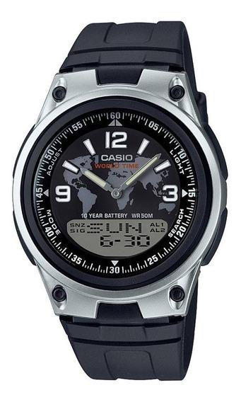 Relógio Casio Anadigi Masculino Aw-80-1a2vdf