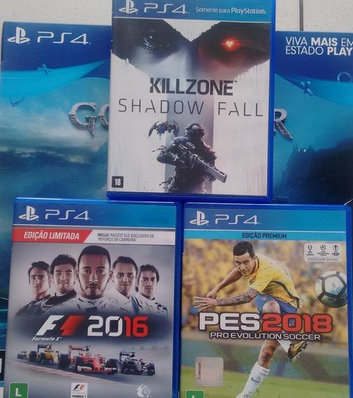Pct Jogos Ps4 Killzone Shadow Fall - F1 2016- Pes 2018