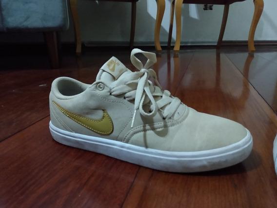 Tênis Nike Sb Check Ss Bege Usado