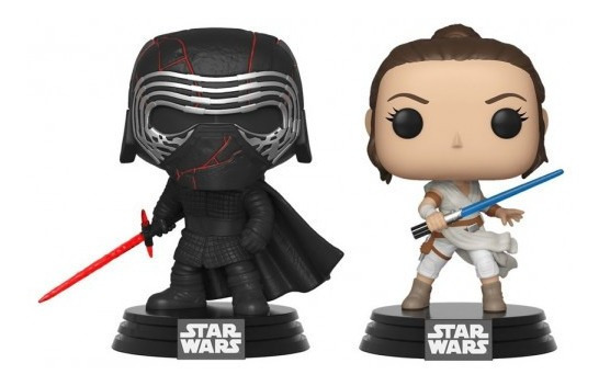 Boneco Funko Pop Disney Kylo Ren E Rey Star Wars 2 Packs Ex