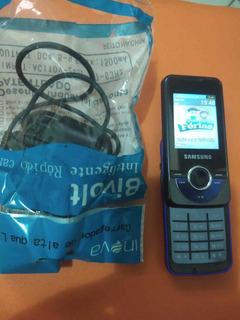 Celular Samsung Modelo M2710 Com Mp3 Play E Rádio Fm.