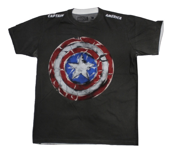 Remera Marvel Original Capitan America Logo 2 0052