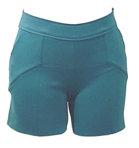 Shorts Feminino Em Neoprene Slim Borda Barroca 51696