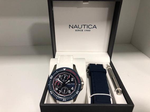 Relógio Náutica Multifunction - Nad14533g C/ Duas Pulseiras