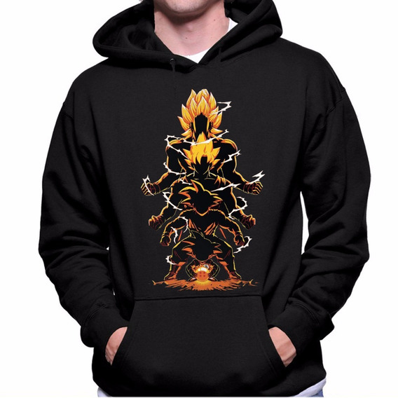 Blusa Moletom Casaco Blusão Goku Dragon Ball Z Fases