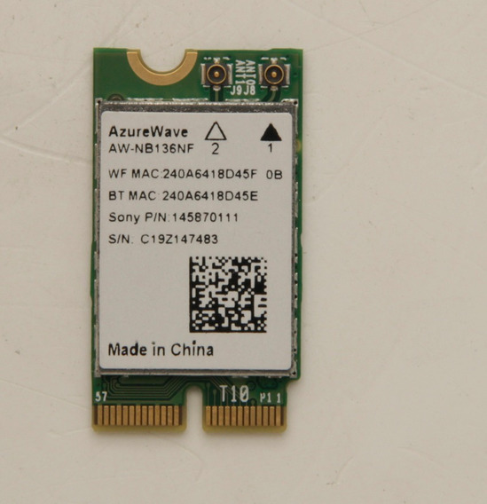 Wireless Wlan Bluetooth Sony Azurewave Aw-nb136nf 145870111