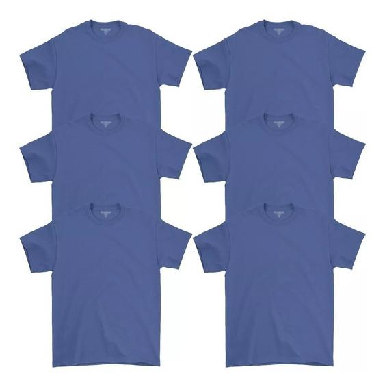 Kit 6 Camisetas Barato Masculina Básicas 100% Algodão Homem