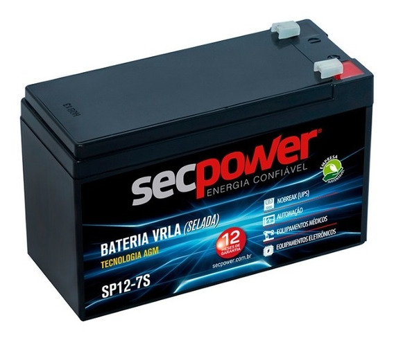 Bateria Alarme/cerca/ Nobreak 12v 6ah Sec Power Sp12-7als