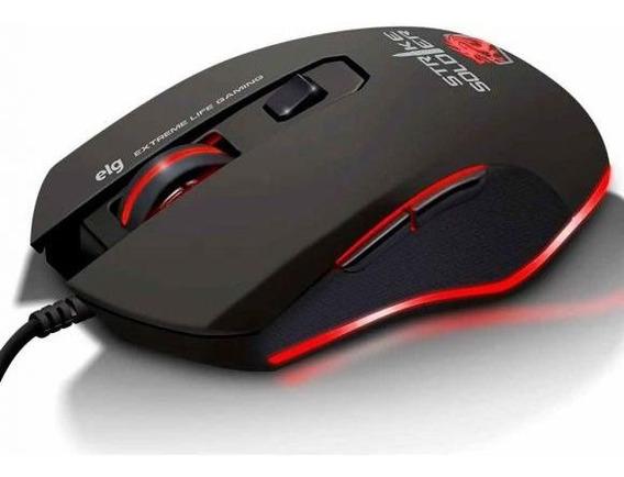 Mouse Gamer Strike Soldier 4800dpi Elg - Preto