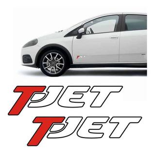 Emblema Adesivo Lateral T-jet Fiat Punto, Bravo, Linea