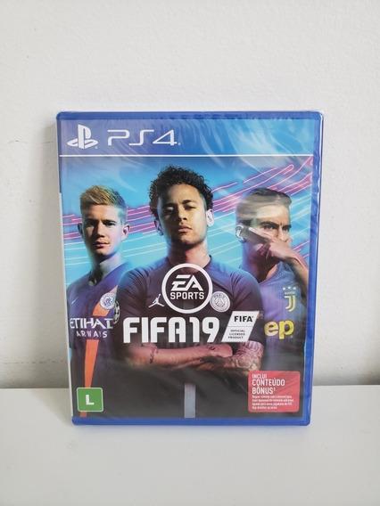 Jogo Playstation 4 - Fifa 19 -lacrado Mídia Física Português
