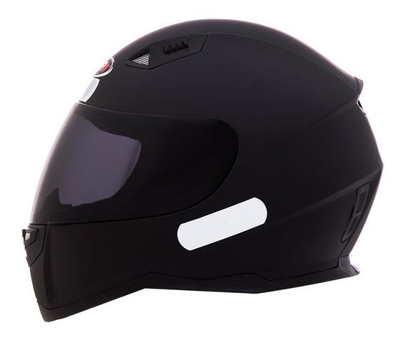 Capacete Motociclista Shiro Sh881 - Monocolor - Preto Fosco