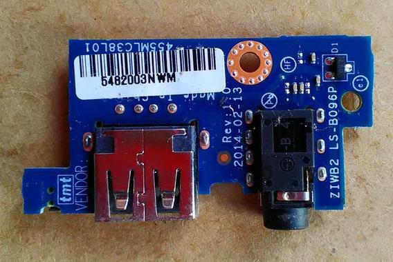 Placa Filha Usb E Audio Do Notebook Lenovo B40 30 80f1
