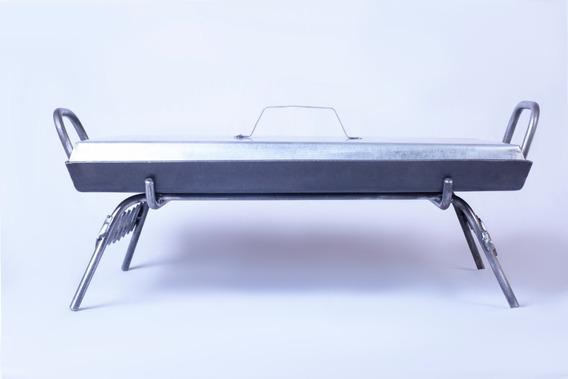 Plancheta 2 Hornallas 3.2mm Espesor + Tapa + Base Parrillera