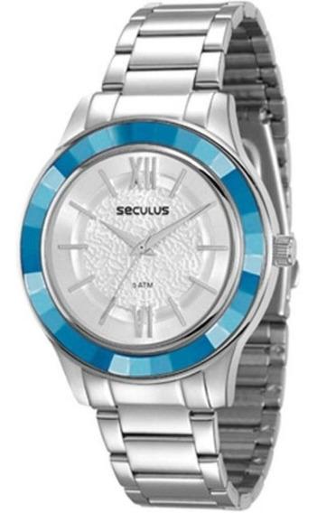 Relógio De Pulso Seculus Feminino Aço - 23559l0svns3