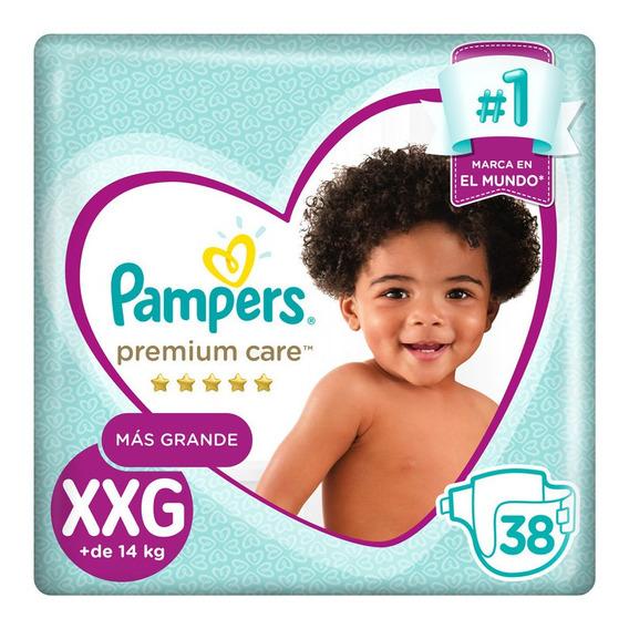 Pampers Premium Care Pañales Desechables Xxg 38 Unidades